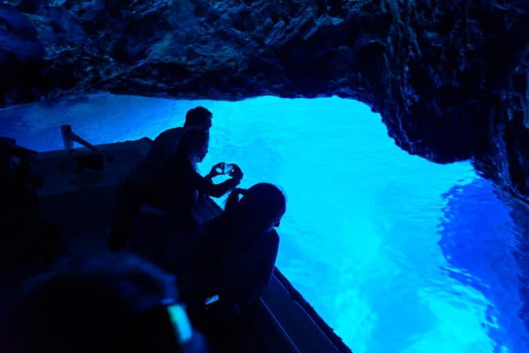 Blue cave excursion