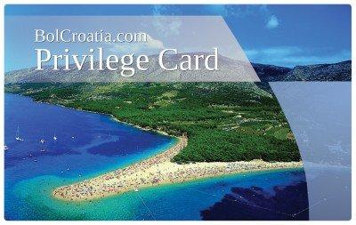 Bol Croatia privilege card