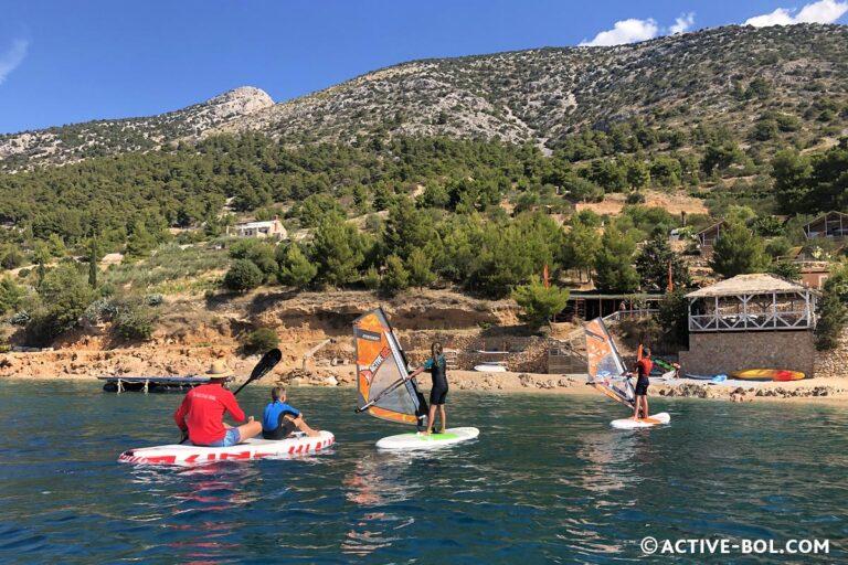 windsurfing beginners package